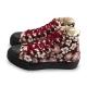 FUFA  MIT  古典花卉高筒帆布鞋  (T85) 紅花 product thumbnail 1