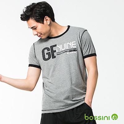 bossini男裝-圓領短袖T恤08淺灰