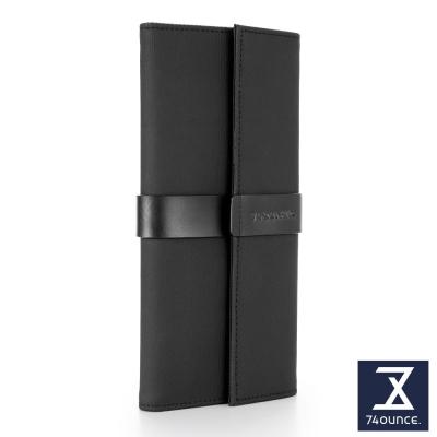 74盎司 Mix 配皮設計長夾[N-558]黑