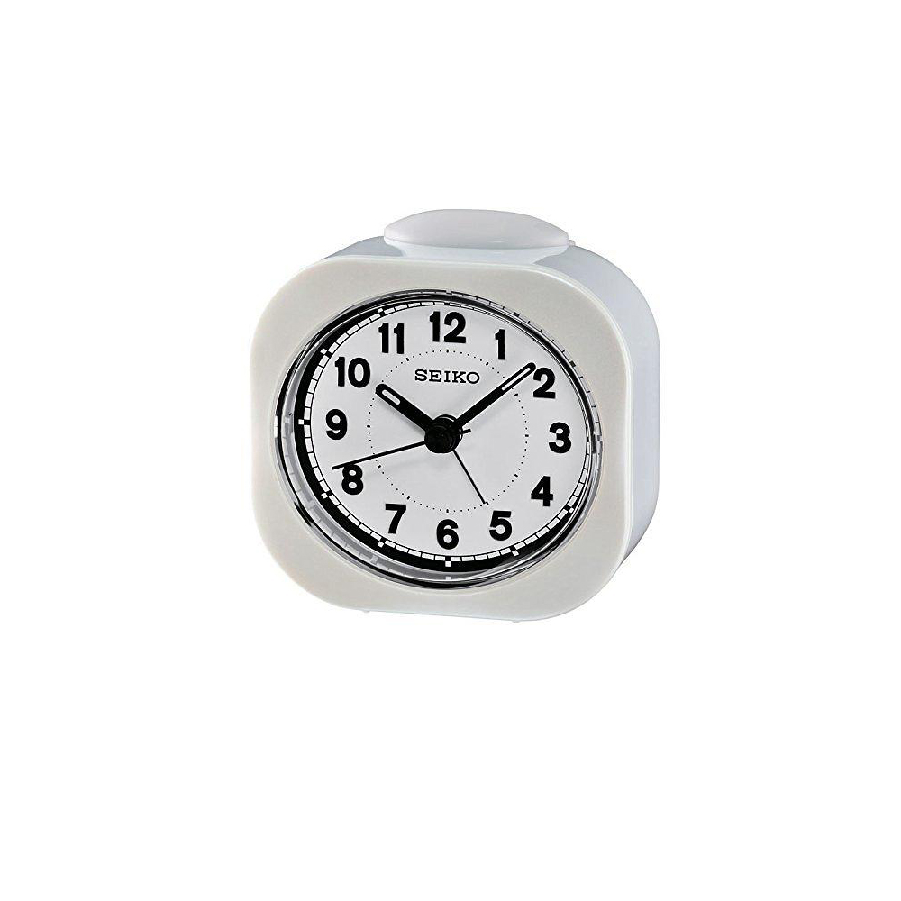 SEIKO 精工 嗶嗶聲 靜音 鬧鐘(QHE121W)-白/7.3X7.2cm