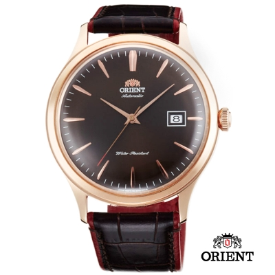 ORIENT 東方錶 DATE Ⅱ 機械錶-黑面玫瑰金框/42mm