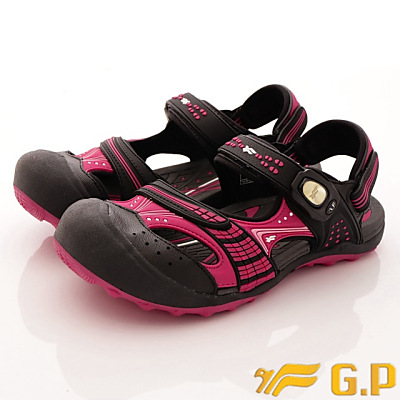 GP時尚涼拖-護趾透氣涼鞋-GSE668W15黑桃粉(女段)