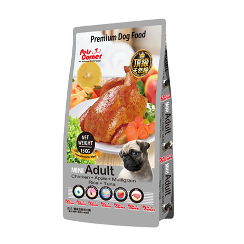 沛克樂Pets Corner頂級天然糧雞肉系列 養生五穀活力餐(小顆粒)15kg