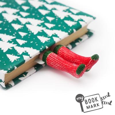 禮物myBookmark手工書籤 精靈聖誕襪