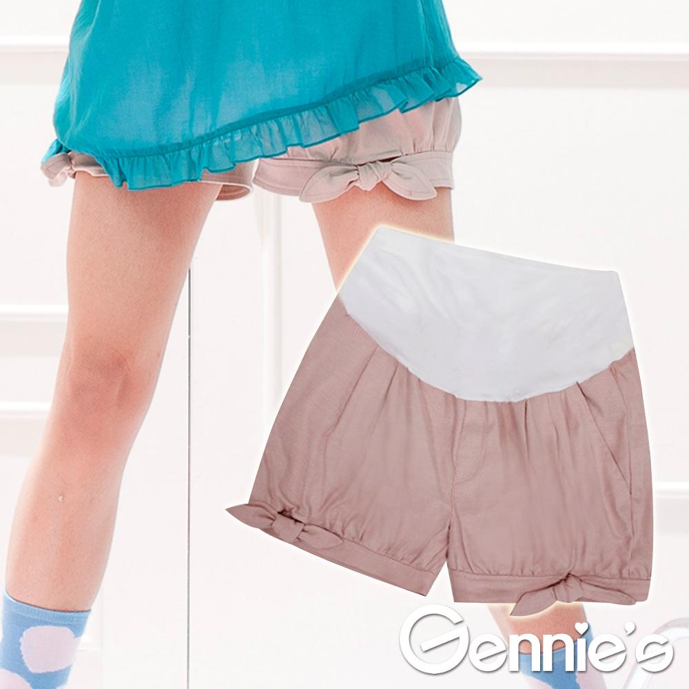 【Gennie's奇妮】魔術酷褲WinCool俏麗綁帶短褲-紅紋(G4302)