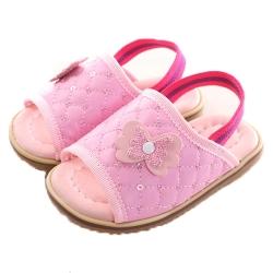 粉蝶亮片鬆緊帶寶寶手工涼鞋  sk0115魔法Baby