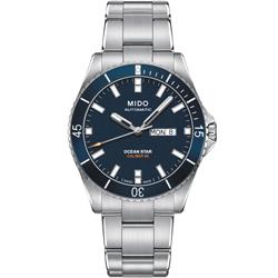 MIDO 美度 OCEAN STAR海洋之星200米潛水機械錶-藍/42mm