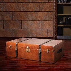 MUSE Oulton奧爾頓復古旅行牛皮收藏箱(小)W100*D60*H2