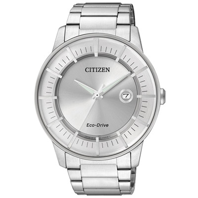 CITIZEN 光影遊戲光動能日期腕錶(AW1260-50A)--銀/42mm
