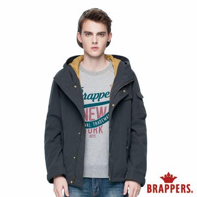 BRAPPERS 男款 男用連帽風衣外套-深灰