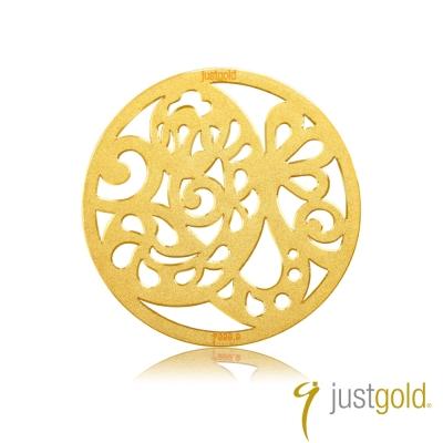鎮金店Just Gold 金幣-花開富貴金幣(蛇)