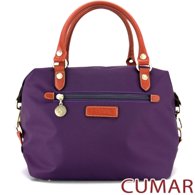 CUMAR 輕量防潑水尼龍2way斜背包-紫