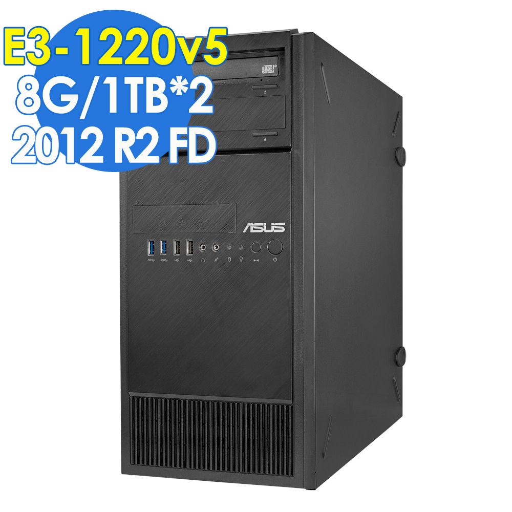 ASUS TS100-E9  直立式伺服器 8G/1TBX2 2012FD