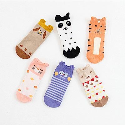 立體卡通動物地板襪 6款可選(三雙/組)