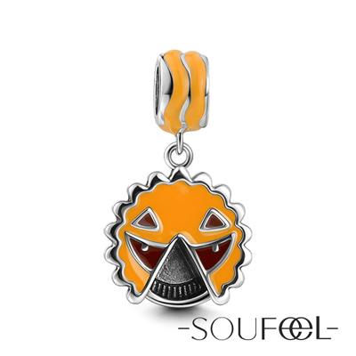 SOUFEEL索菲爾 925純銀珠飾 南瓜鬼臉 吊飾