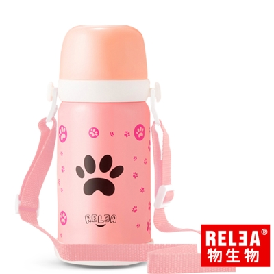 香港RELEA物生物 童趣304不鏽鋼真空保溫壺580ml(羅莉粉)