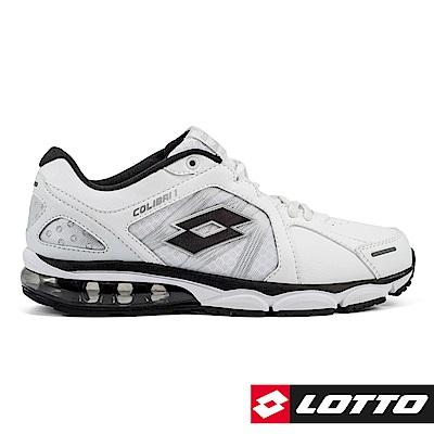 LOTTO 義大利 男 COLIBRI 氣墊跑鞋 (白/黑)