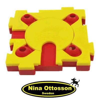 瑞典Nina Ottosson 狗狗益智玩具 狗狗混很大拼拼樂 (高階/鮮黃+鮮紅)