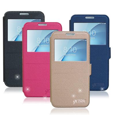 VXTRA Samsung Galaxy A8 (2016)經典金莎紋視窗皮套