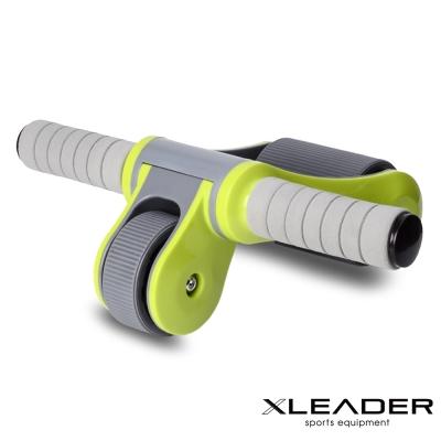 Leader X  雙輪軸承 折疊式滾輪健腹器 健美輪 綠色 - 急