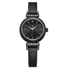 JULIUS聚利時 爵士女伶米蘭錶帶腕錶-黑色/22.5mm