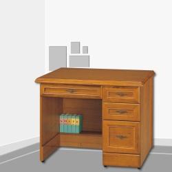 AS-Robin3.5尺實木樟木色辦公桌-105x63x81cm