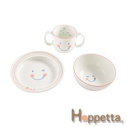 Hoppetta 微笑強化陶瓷3件餐具組