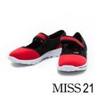 輕量鞋 MISS 21 防潑水透氣網布繫帶極輕生活鞋-紅