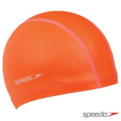 SPEEDO 成人 合成泳帽 Pace 橘