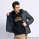 GIORDANO 男裝防風保暖搖絨連帽修身夾克外套 -  04 深花灰