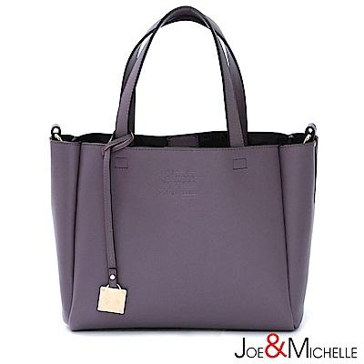 J&M 真皮凱蒂絲簡約吊飾包 微醺紫