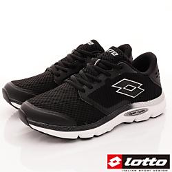 Lotto樂得-MAGLIA II避震跑鞋-FI980黑(男段)