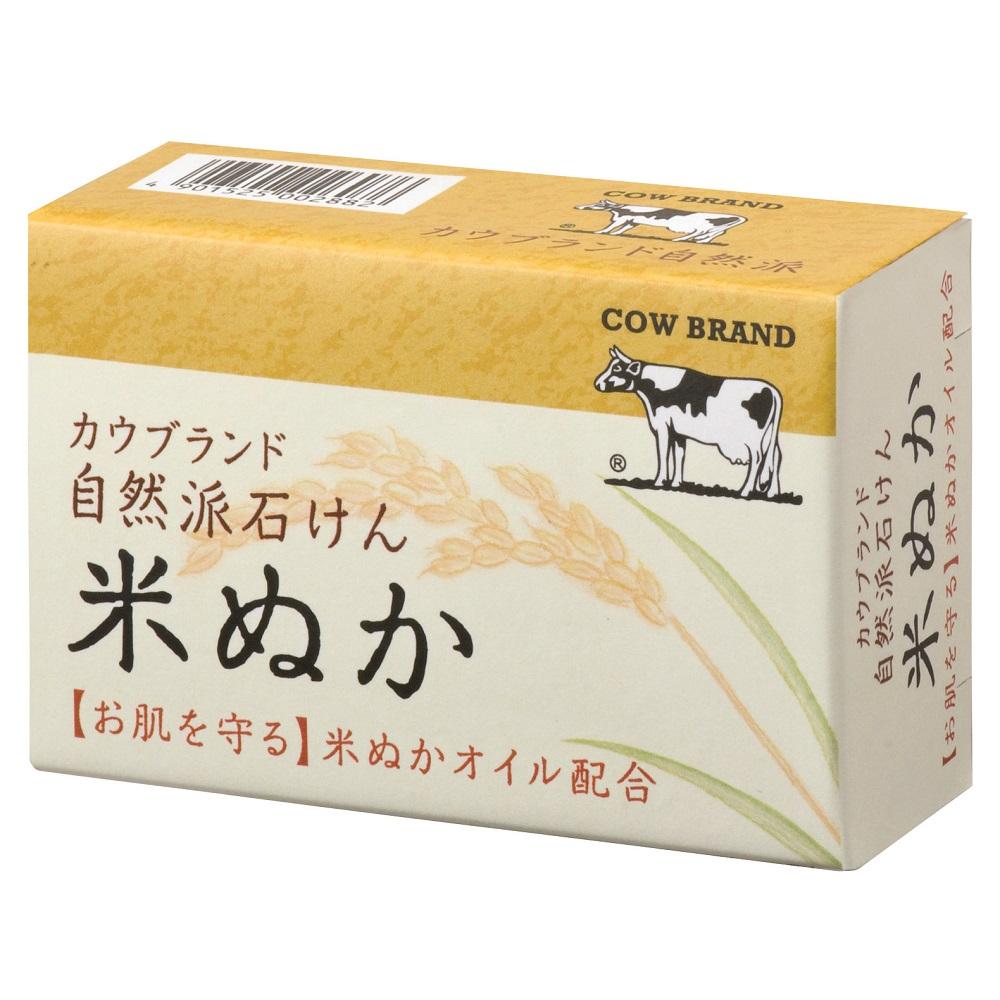 日本牛乳石鹼-自然派米糠香皂100g/個(總代理)