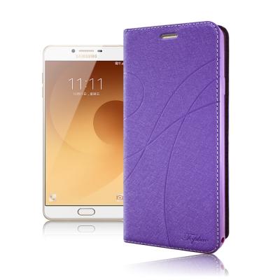 Topbao Samsung Galaxy C9 Pro 典藏星光隱扣側翻皮套