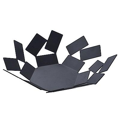 Alessi 義大利 幾何方型不規則水果籃 置物籃 黑色 24cm