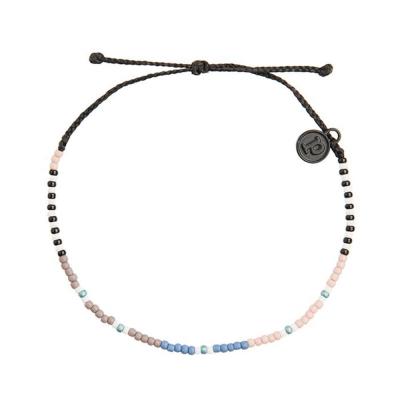 Pura Vida 美國手工 MAGICAL MYSTERY小彩珠系列 黑色可調式手鍊