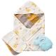 奇哥-快樂森林六層紗包巾禮盒