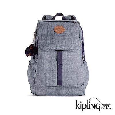 Kipling 後背包 經典素面灰-大