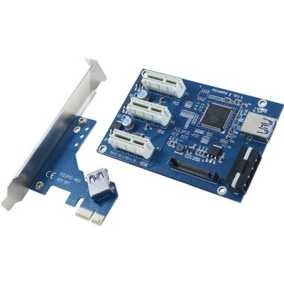 伽利略 PCI-E 1X 1 to 3 埠