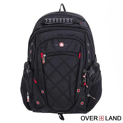 OVERLAND-美式十字軍x新譯交叉菱格紋後背包