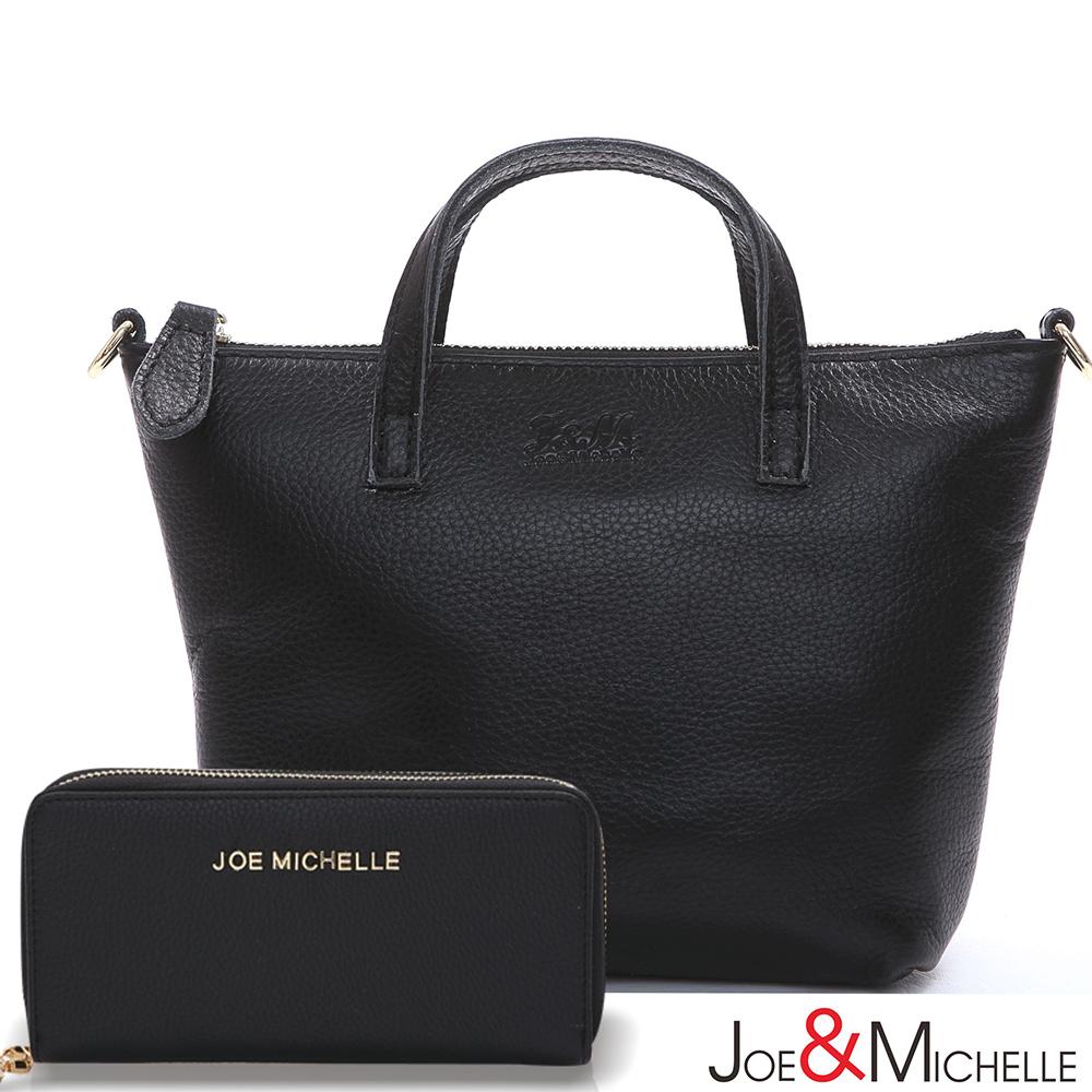 J&M  真皮克莉絲汀Mini兩用包夾組 經典黑
