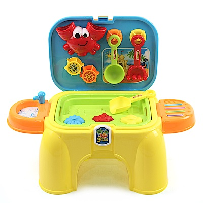 沙灘玩具收納椅 (可當座椅、沙池玩具、能配合動力沙遊玩)