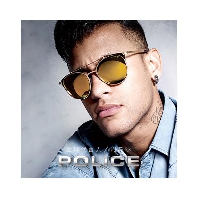 POLICE-時尚造型 水銀面 太陽眼鏡 (金色)PE-SPL156V