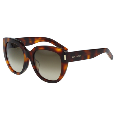 Saint Laurent Paris 時尚太陽眼鏡(琥珀色)