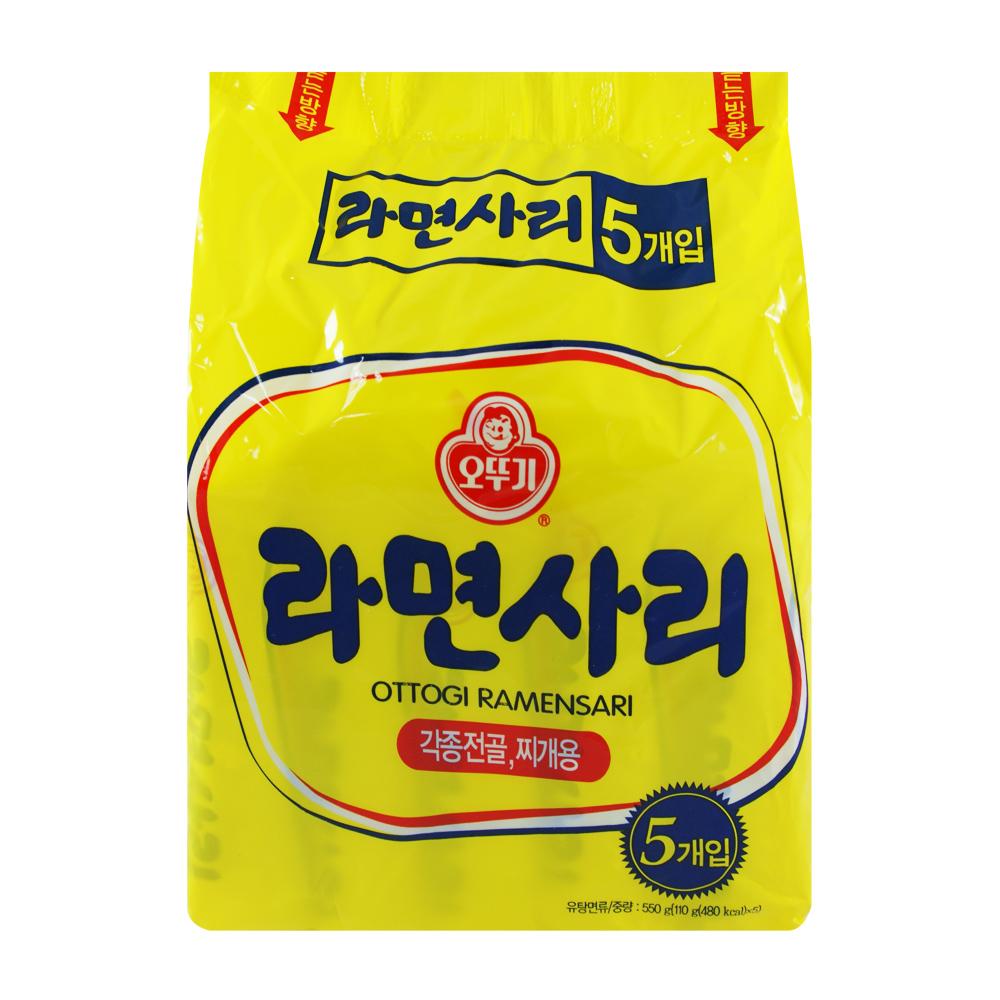 韓國不倒翁OTTOGI Q拉麵-純麵條(110gx5入)
