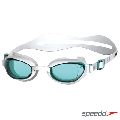 SPEEDO 成人女用進階泳鏡AQUAPURE 白-藍