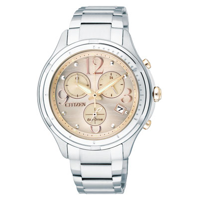 CITIZEN L 系列 綻放亮麗光動能時尚腕錶(FB1371-58P)-粉橘金/38mm