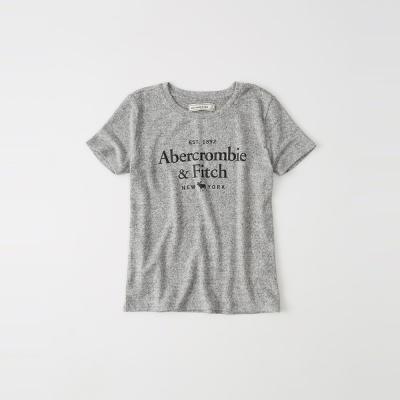 A&F 經典文字麋鹿短袖T恤(女)-灰色 AF Abercrombie