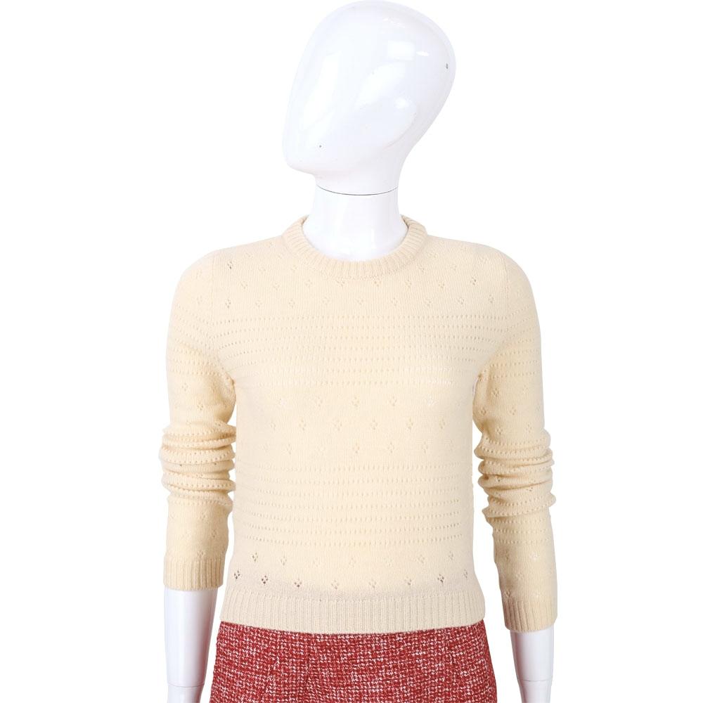 PHILOSOPHY 米色織紋羊毛針織上衣(45%LANA)