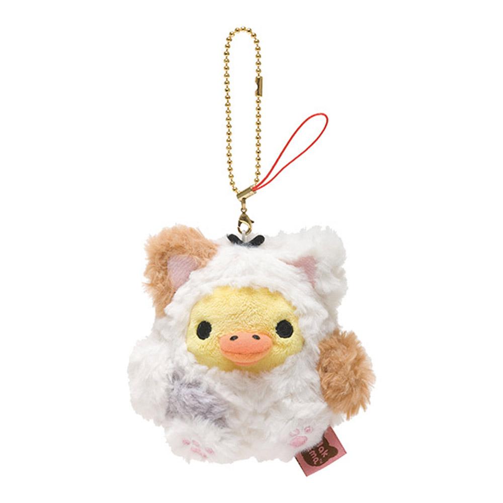 拉拉熊悠閒貓生活系列毛絨公仔吊飾。小雞
